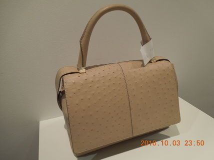 Ostrich Leather 2WAY Plain Other Animal Patterns