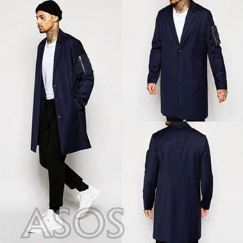 ASOS MA1 pocket with overcoat