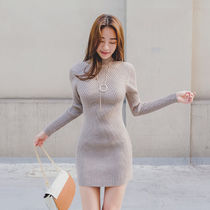 Tight Street Style Long Sleeves Plain Medium High-Neck