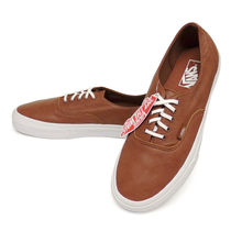 VANS AUTHENTIC Leather Deck Shoes Loafers & Slip-ons