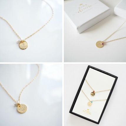Casual Style Initial Chain Handmade 14K Gold