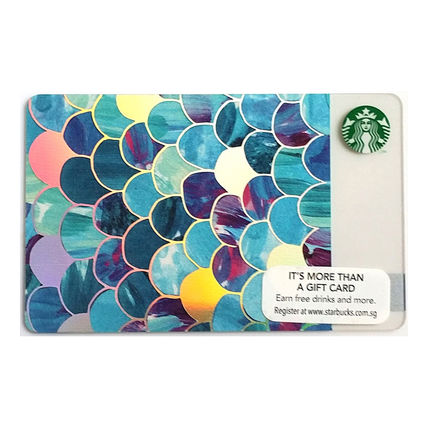 Starbucks Singapore limited scale card