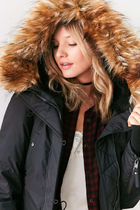 Urban Outfitters Faux Fur Street Style Plain Medium Parkas