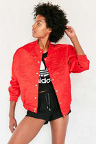 adidas Short Flower Patterns Unisex Plain Varsity Jackets