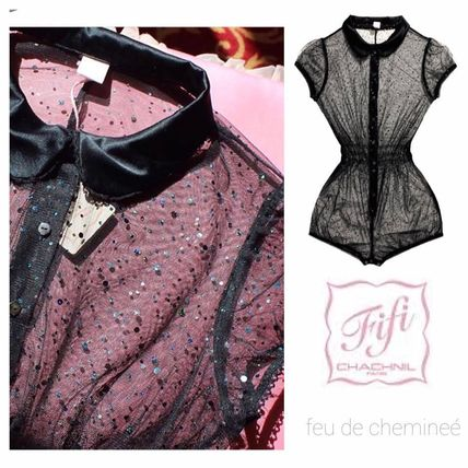 Fifi Chachnil Babyloo Paillette rompers