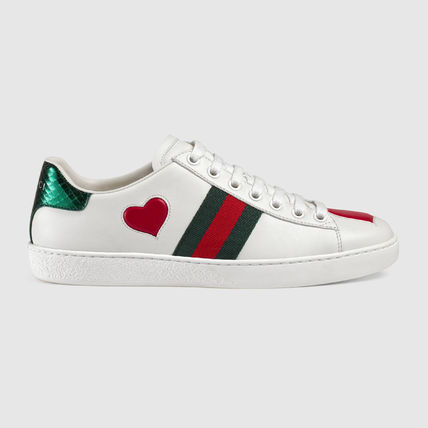 GUCCI Casual Style Leather Low-Top Sneakers