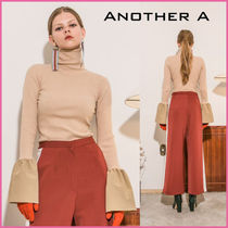 ANOTHER A Plain Super-long Sleeves Turtlenecks