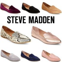 Steve Madden Casual Style Suede Plain Python Loafer Pumps & Mules