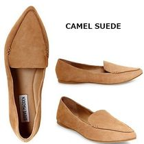 Steve Madden Casual Style Suede Plain Python Loafer & Moccasin Shoes