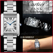 Cartier TANK Square Quartz Watches Stainless Elegant Style Analog Watches