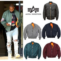 ALPHA INDUSTRIES Short Plain MA-1 Bomber Jackets