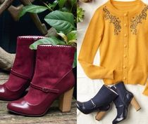 Mademoiselle R Round Toe Elegant Style Ankle & Booties Boots