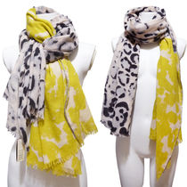 CITRUS Leopard Patterns Casual Style Wool Office Style