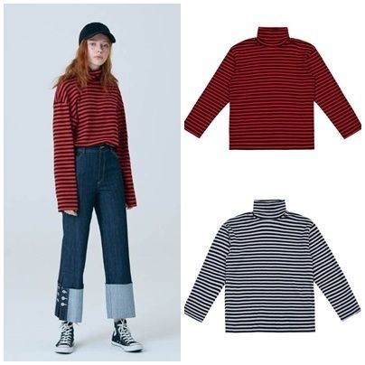 Stripes Unisex Street Style Long Sleeves Medium