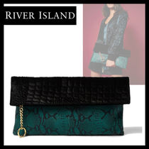 River Island Chain Other Animal Patterns Leather Party Style Python
