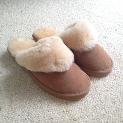 Round Toe Casual Style Sheepskin Plain Home Party Ideas