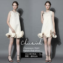 Chicwish Short A-line Sleeveless U-Neck Plain Party Style Dresses