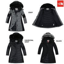 THE NORTH FACE Gingham Wool Street Style Plain Long Down Jackets