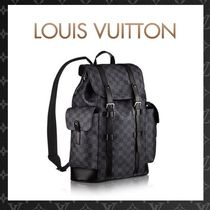Louis Vuitton CHRISTOPHER Monogram Canvas Street Style A4 Backpacks