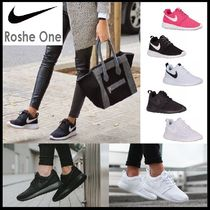 Nike ROSHE ONE Wedge Plain Toe Rubber Sole Street Style