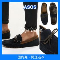 ASOS Straight Tip Moccasin Suede Collaboration Plain