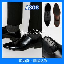 ASOS Straight Tip Collaboration Plain Leather Oxfords