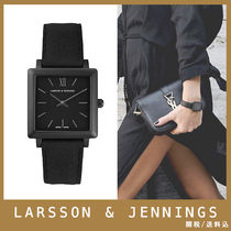 Larsson&Jennings Square Quartz Watches Elegant Style Analog Watches