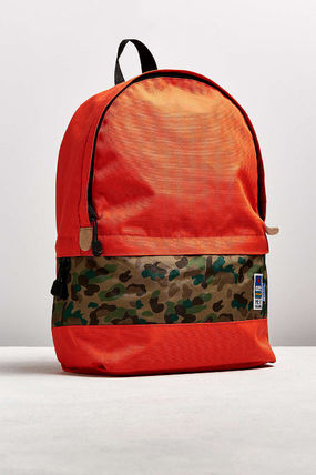 Camouflage Canvas Street Style A4 Plain Backpacks