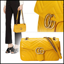 GUCCI GG Marmont Elegant Style Shoulder Bags