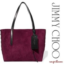 Jimmy Choo Suede Studded Plain Party Style Totes