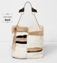 River Island Casual Style Faux Fur Totes