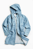 STUSSY Denim Plain Long Oversized Parkas
