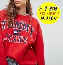 Tommy Hilfiger Crew Neck Street Style Long Sleeves Cotton Medium