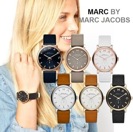 Leather Round Quartz Watches Analog Watches
