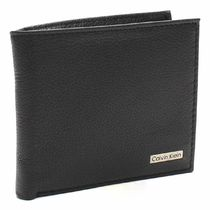 Calvin Klein Plain Leather Folding Wallets