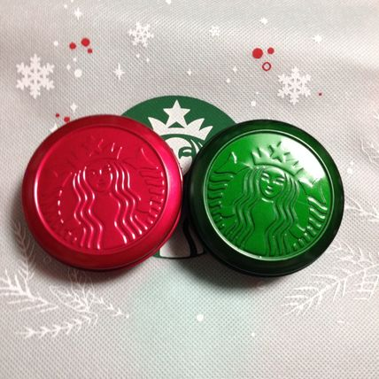 Christmas limited edition color STARBUCKS pill case
