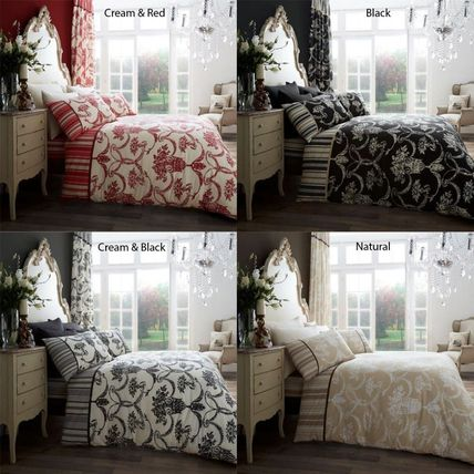 Stripes Pillowcases Fitted Sheets Comforter Covers Damask