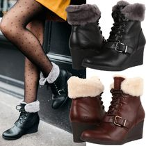 UGG Australia Sheepskin Plain Wedge Boots