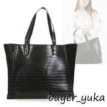 TOPSHOP Faux Fur A4 Other Animal Patterns Python Elegant Style Totes