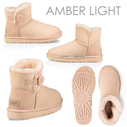 UGG Australia Ankle & Booties Round Toe Casual Style Sheepskin Plain Ankle & Booties Boots 5