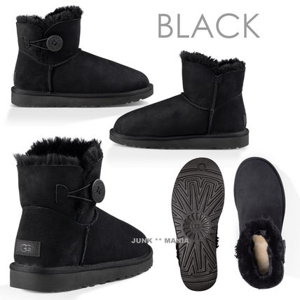 UGG Australia Ankle & Booties Round Toe Casual Style Sheepskin Plain Ankle & Booties Boots 2
