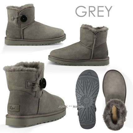 UGG Australia Ankle & Booties Round Toe Casual Style Sheepskin Plain Ankle & Booties Boots 3