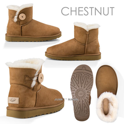 UGG Australia Ankle & Booties Round Toe Casual Style Sheepskin Plain Ankle & Booties Boots 4