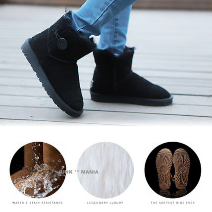 UGG Australia Ankle & Booties Round Toe Casual Style Sheepskin Plain Ankle & Booties Boots 6