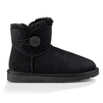 UGG Australia Ankle & Booties Round Toe Casual Style Sheepskin Plain Ankle & Booties Boots 7