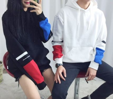 MTM point color sweat hoodie