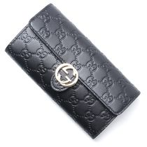 GUCCI Leather Long Wallets