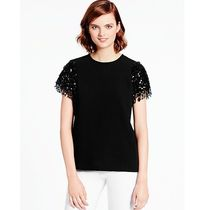 kate spade new york Crew Neck Plain Medium Short Sleeves Party Style Tunics