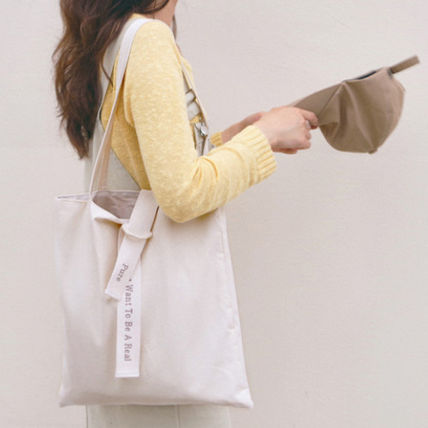 ATTICMERMAID Simple design cotton eco bag