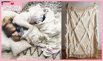 Anthropologie Plain Fringes Comforter Covers Throws